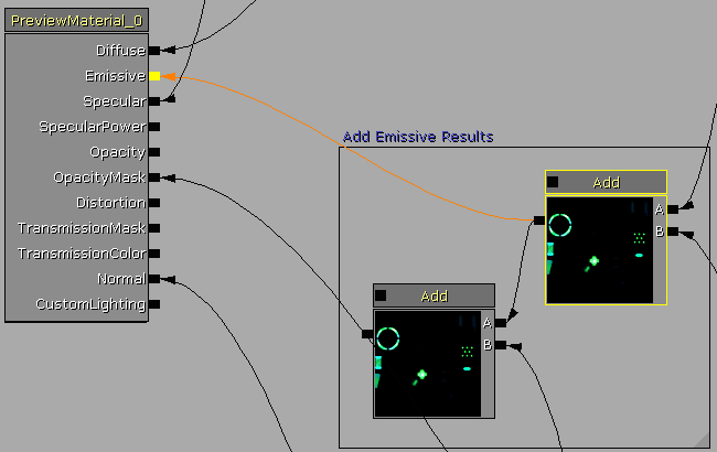 Second Add connected directly to Emissive