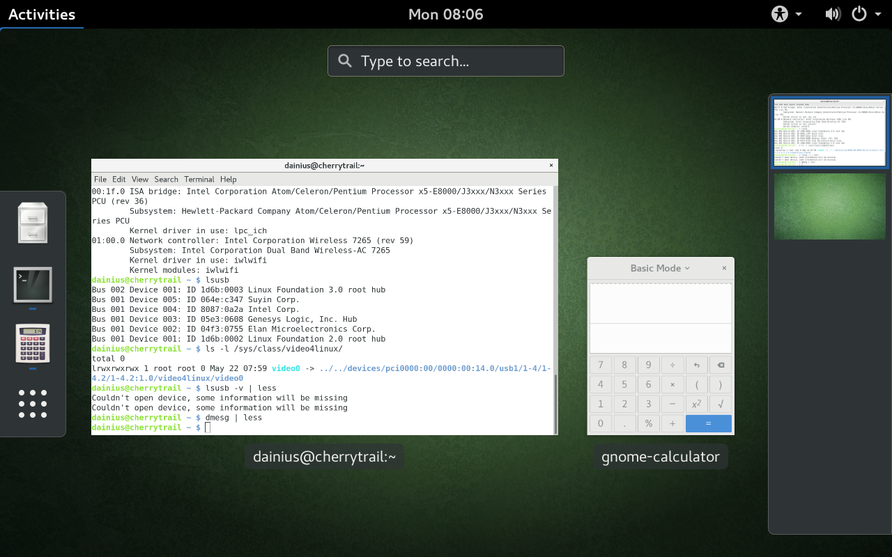 GNOME task switcher